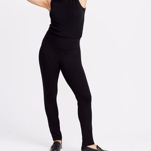 Brass Ponte Pants in Black Size Small